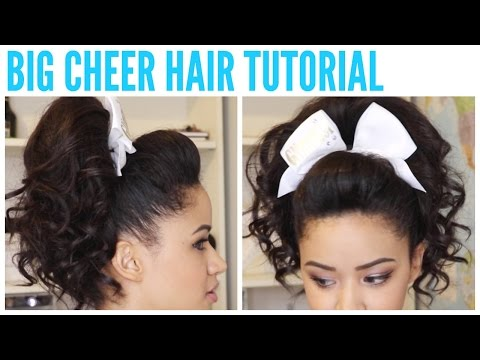 - BIG CHEER HAIR TUTORIAL - Perfect Poof and Curly Ponytail ♡