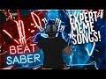 BEST MEME SONGS ON BEAT SABER (EXPERT CUSTOM SONGS)