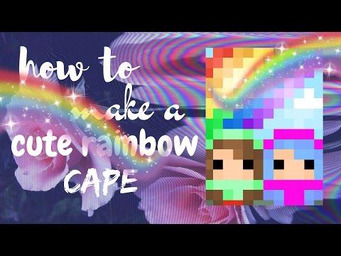 How to make a cute rainbow cape | pixel gun 3D