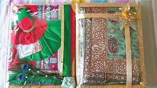 How to make Women Dress using a Saree ,Wedding Tray Decoration - The