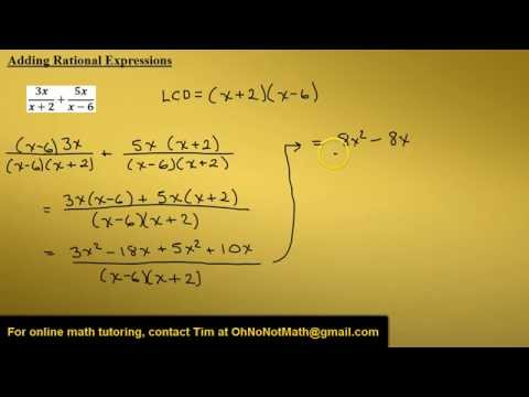 Adding Rational Expressions, Example 3