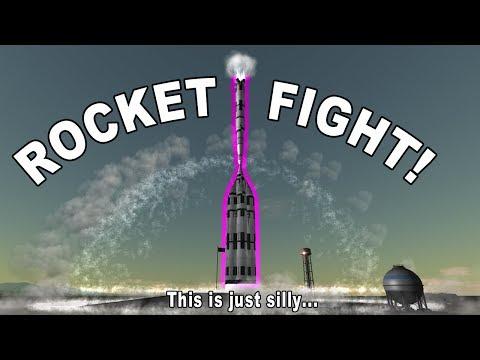 ROCKET FIGHT!!! - Saturn V vs. Mad Behemoth (KSP Reddit Challenge)