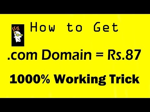 How To get cheap domain name .com in $1