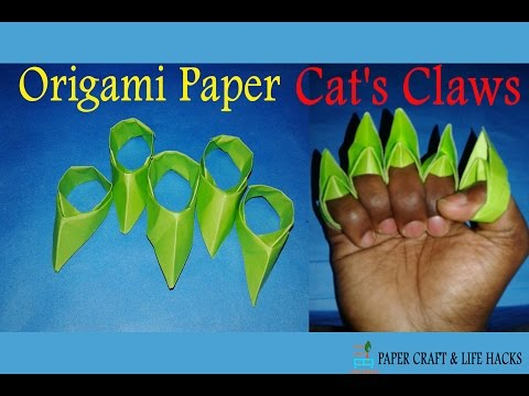 How to make a paper Cat's Claws Spiked Knuckles Easy Step by step By nTc Tricks
