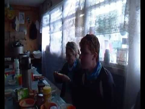 Mt Elbrus - Fly-by on meal table at Barrels Camp
