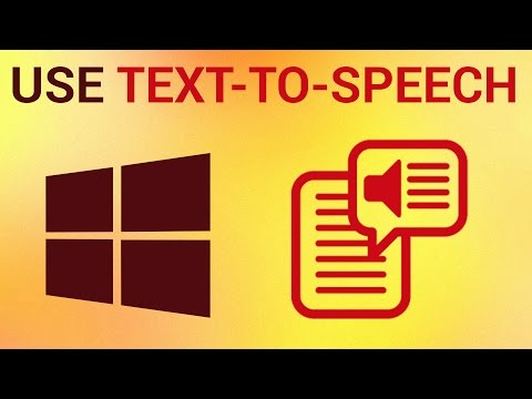 How to use Text-to-Speech in Windows 8