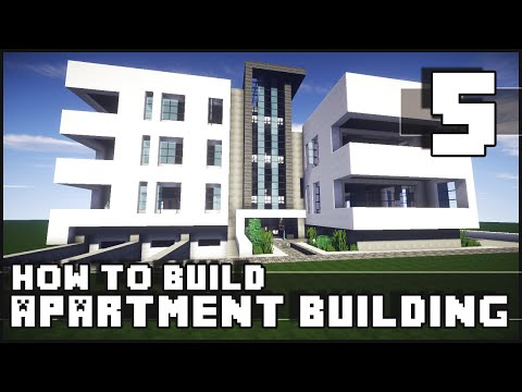 Minecraft - How to Build : Modern Apartment Building - Part 5