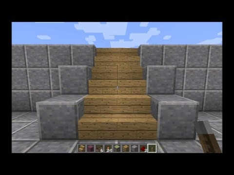 Minecraft Hidden Staircase Door Tutorial!