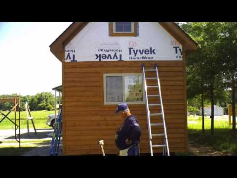 Installing the cabin siding