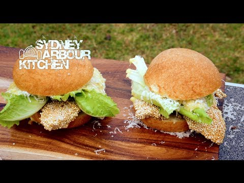 How to make a Chicken & Quinoa Burger with Luke O'Donnell - Sydney Harbour Kitchen Ep 12