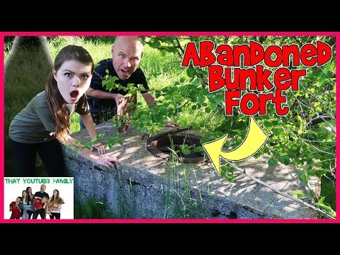 We Found An Abandoned Bunker Fort In The Forest / That YouTub3 Family