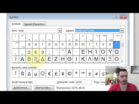How Do I Type Greek Letters in Microsoft Word