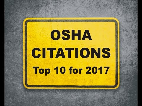 OSHA Citations - Top 10 for 2017