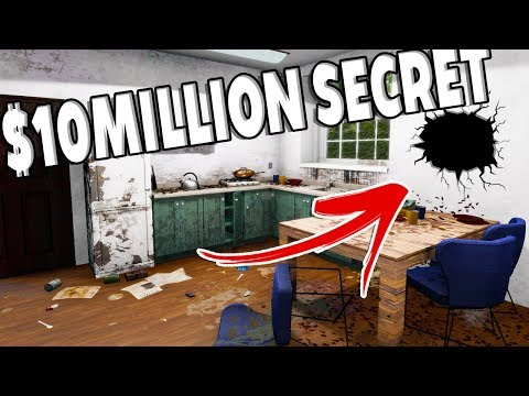 This House Has A $10,000,000 SECRET! HIDDEN TREASURE?! - House Flipper Gameplay