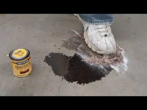 Wood Stain Removal From Cement.wmv