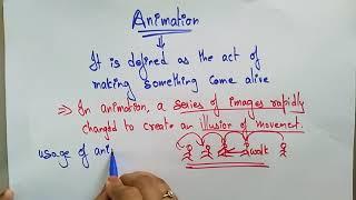 Animation | Computer Graphics | lec-60| Bhanu Priya