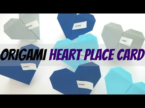 DIY Origami Heart Place Cards || I Like DIY Projects