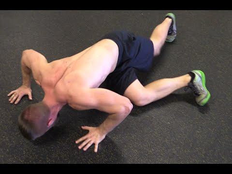 Push Ups for Building Stronger Abs - Side to Side Kickout Push Ups