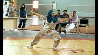 Girls kung fu tournament in Gujranwala