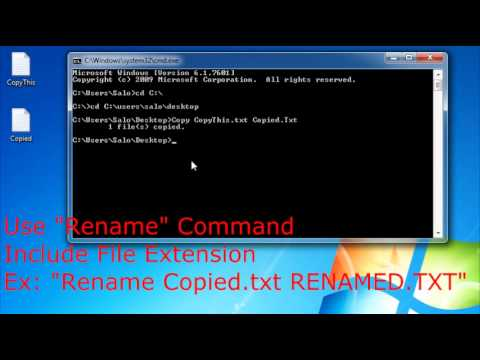 How to Change Directory, Copy, Rename & Delete Files in CMD Windows 7 (Simple)