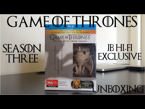 Game of Thrones Season Three Unboxing (Limited Edition Australian JB HI-FI with POP! Viserion)