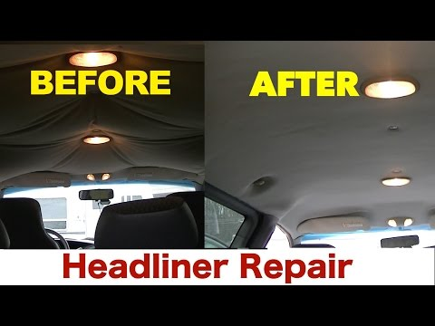 Headliner Restoration... Anyone CAN DO IT! -YES YOU!