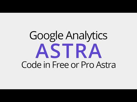 How to add Google Analytics code in Astra WordPress Theme