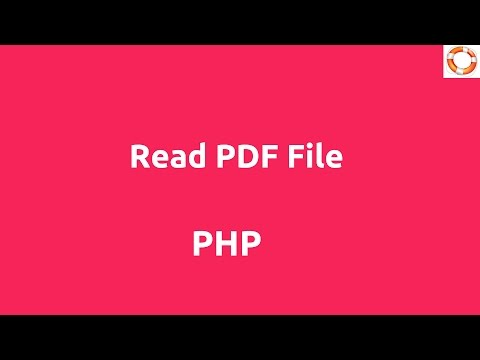 Read PDF file in PHP