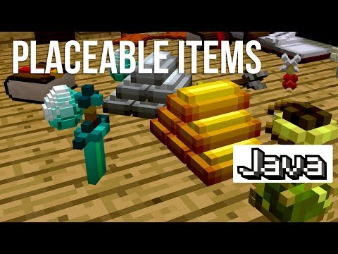 Tons of Placeable Items Now in Minecraft