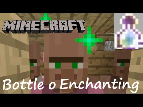 Minecraft - How To Get Bottle o Enchanting Survival Tutorial - (No commentary)