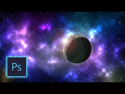 Photoshop Tutorial | How to Soon Create Stars, Planets and Faraway Galaxies in Photoshop cc