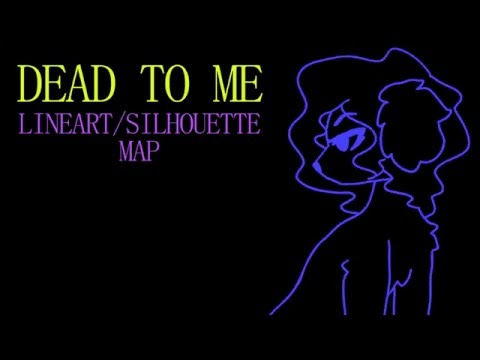 dead to me - lineart/silhouette oc map (42/44 done)