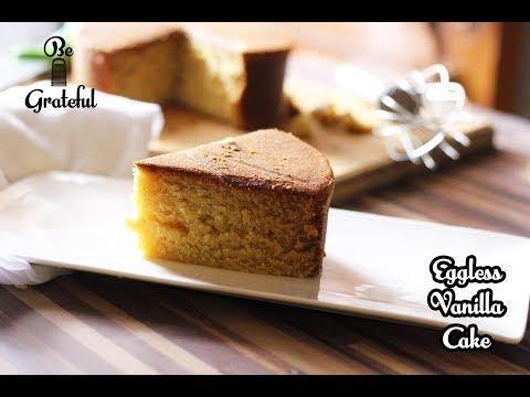 How To Make Eggless Vanilla Sponge Cake | Quick & Easy | Homemade