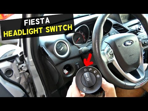 FORD FIESTA HEADLIGHT SWITCH REPLACEMENT REMOVAL MK7 ST