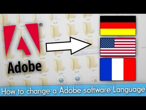 How to change a Adobe software language