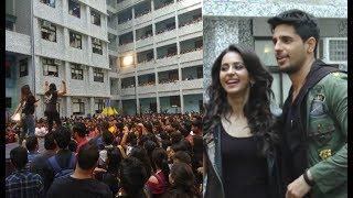 Aiyaary Promotion At Pillai College Festival - Sidharth Malhotra And Rakul Preet Singh