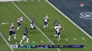 James White Tackle-Breaking 26 Yard TD Run! | Eagles vs. Patriots | Super Bowl 52 Highlights