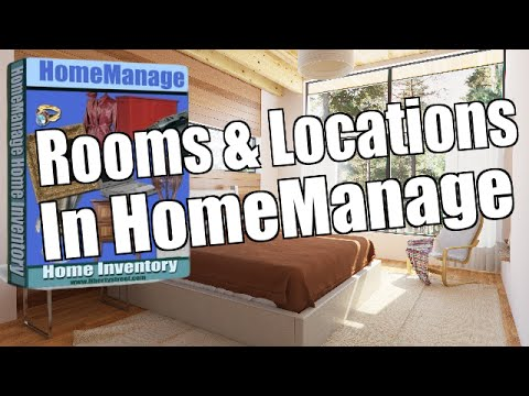 Rooms & Locations in HomeManage Home Inventory Software