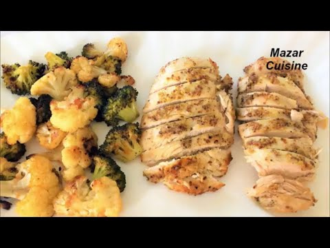 Oven Baked Chicken Breast Recipe  With Vegetable , سینه مرغ با سبزیجات Healthy Chicken Breast Recipe