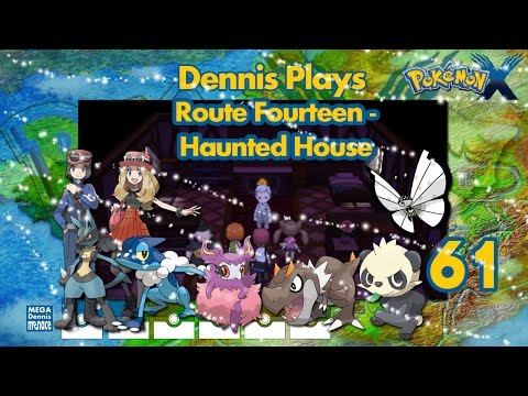 Let's Play Pokemon X (Ep 61) Route 14 - Haunted House!