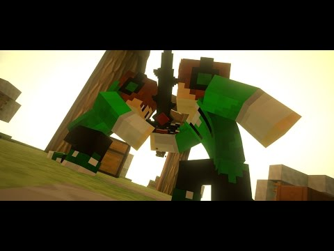 Blender Minecraft Animated Intro Template    Blender PvP Intro Template