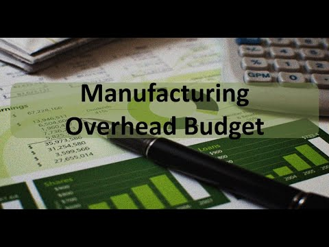 Managerial Accounting: Manufacturing Overhead Budget