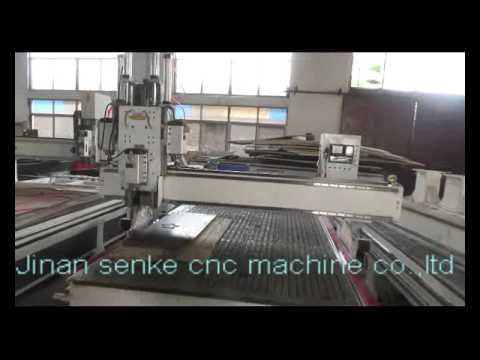 4 axis 180 degree Three Spindles auto tool changer cnc router machine