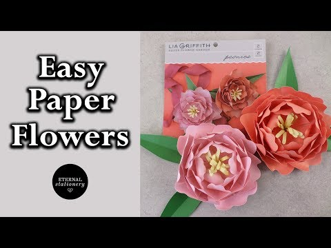 Quick and Easy DIY Paper flower tutorial