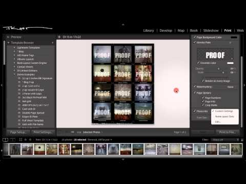 Julieanne Kost: How to Create a Contact Sheet in Adobe Lightroom