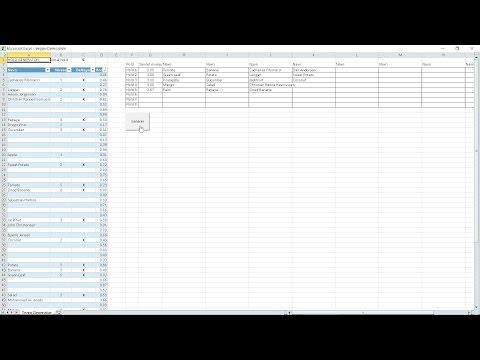Automatic Team Generator (Excel/VBA)