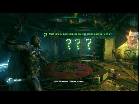 Riddlers Quest: What Kind of question can only be asked upon reflection Solved?