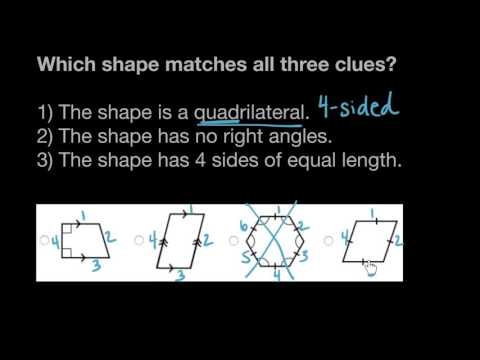 Classifying shapes by lines and angles   | Math | 4th grade | Khan Academy