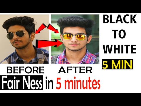 How to Become Fair | Skin care routine for men | Indian Skin