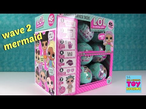 Wave 2 LOL Surprise Doll Blind Bag Opening Cries Color Change Spits | PSToyReviews